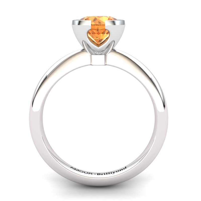Artisanal The Eye of Venus Solitaire Ring Citrine _image1