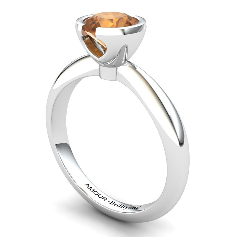 Artisanal The Eye of Venus Solitaire Ring Citrine _image2