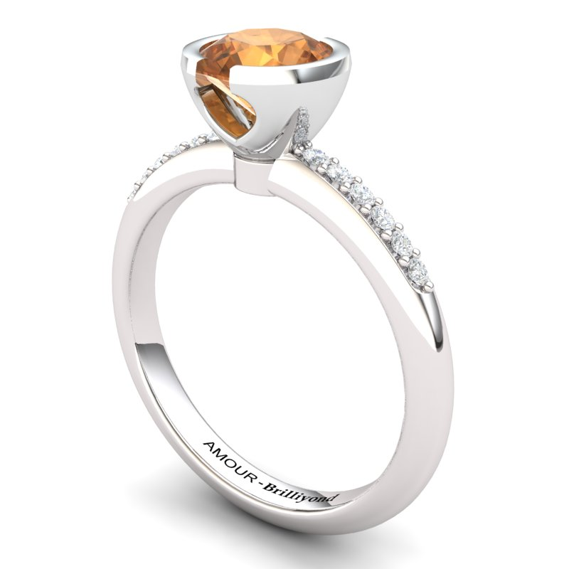Elite The Eye of Venus Solitaire Citrine Ring_image1