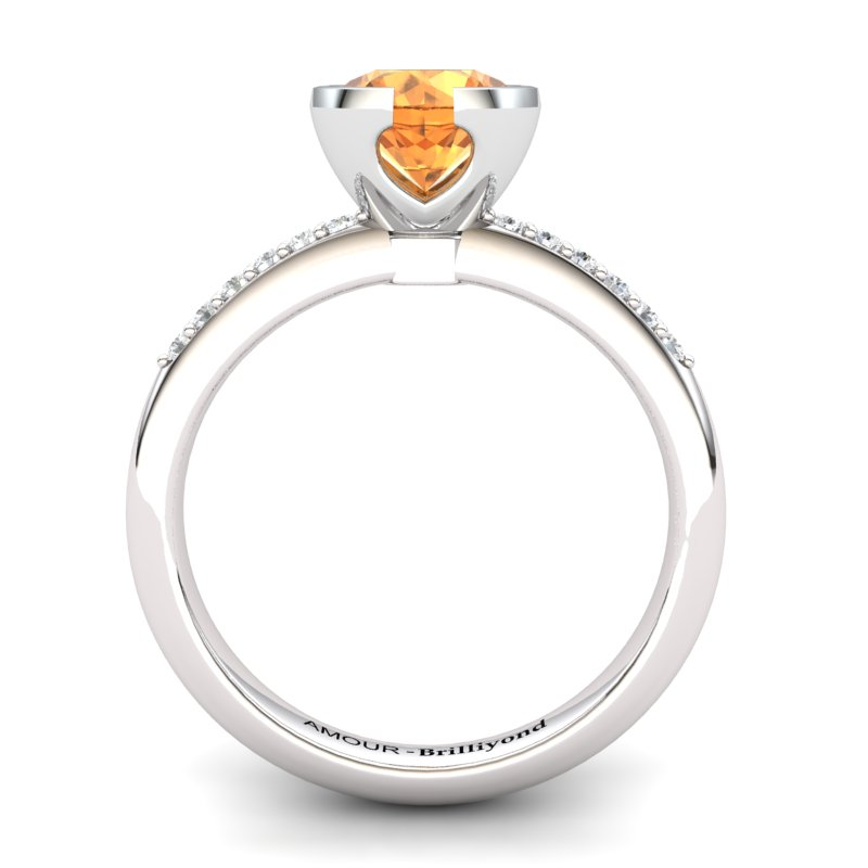 Elite The Eye of Venus Solitaire Citrine Ring_image2
