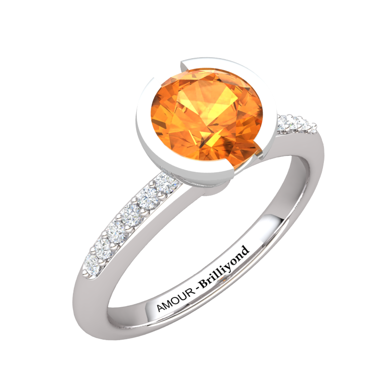 Elite The Eye of Venus Solitaire Citrine Ring_image3