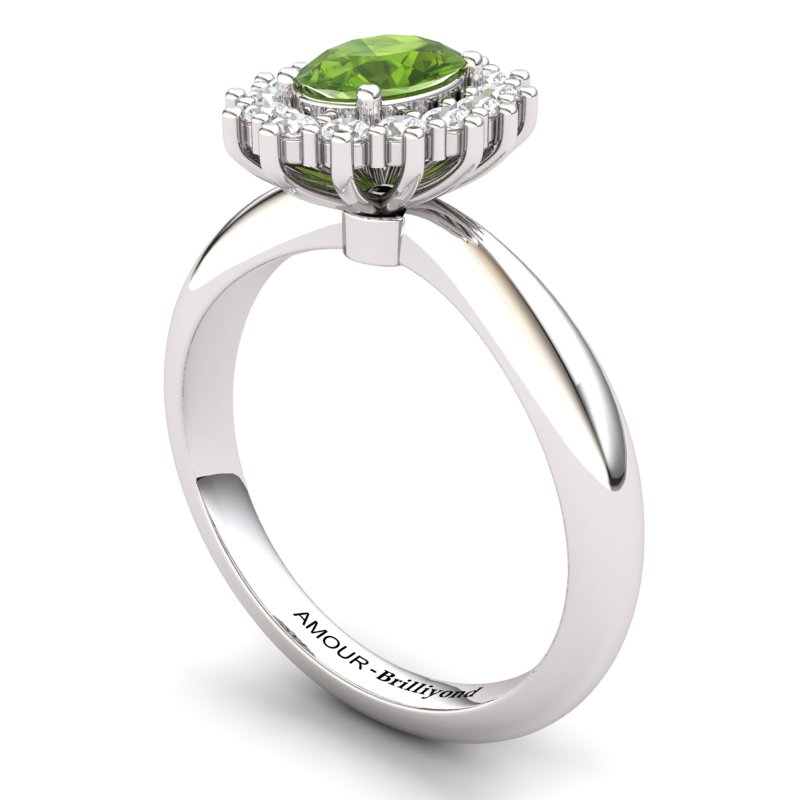 Peridot Artisanal The Royal Heritance Silver Engagement Ring_image1