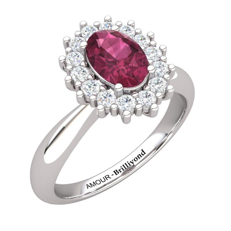 Garnet Artisanal The Royal Heritance Silver Engagement Ring_image1