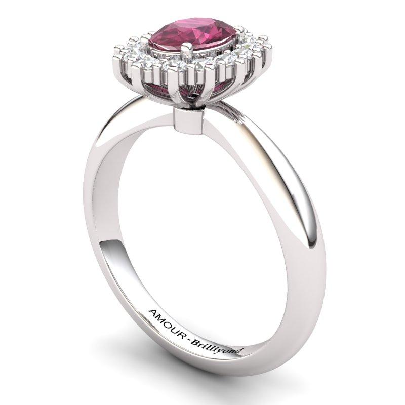 Garnet Artisanal The Royal Heritance Silver Engagement Ring_image2
