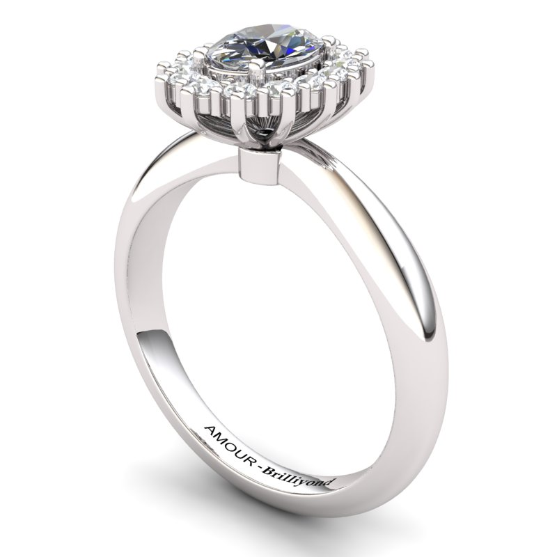 White Topaz Artisanal The Royal Heritance Silver Engagement Ring_image1