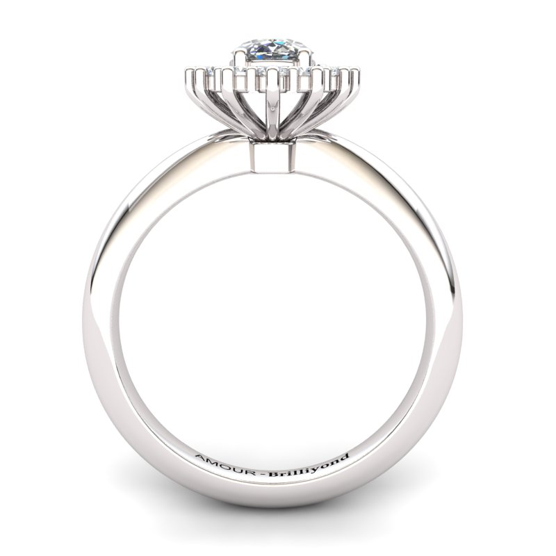 White Topaz Artisanal The Royal Heritance Silver Engagement Ring_image2