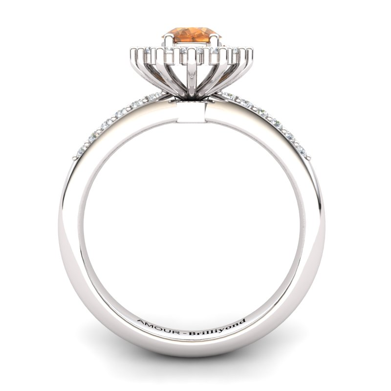Elite The Royal Heritance Silver Citrine Engagement Ring_image2