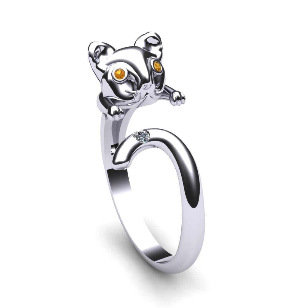 Yellow Sapphire Cat Ring_image1