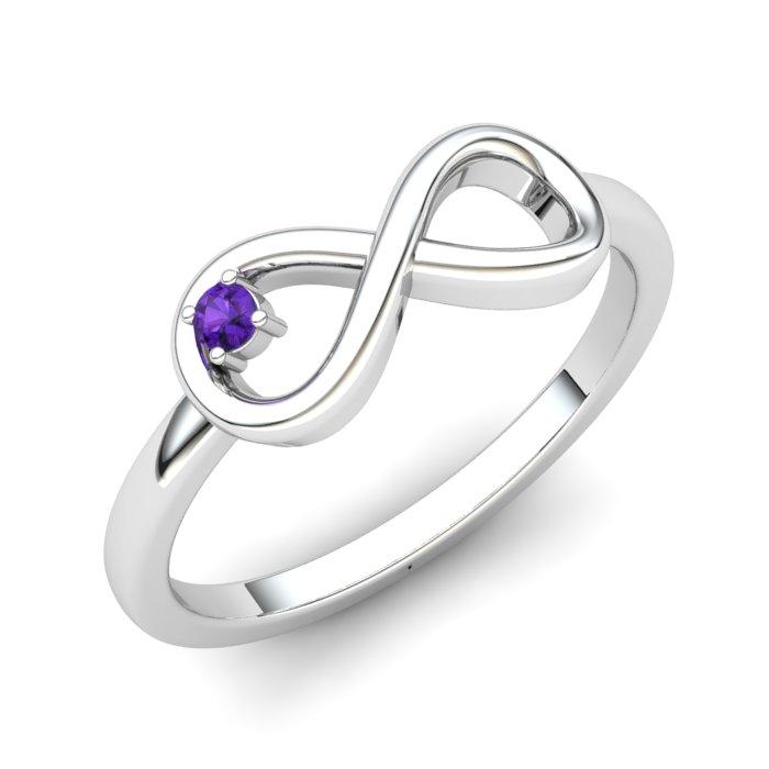 Amethyst Infinity Love Ring_image1