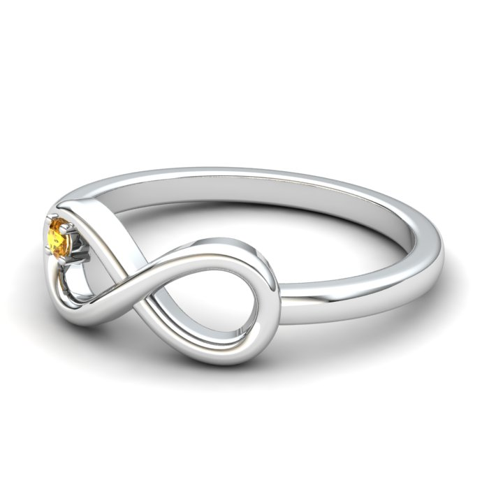 Infinity Love Citrine Ring_image1