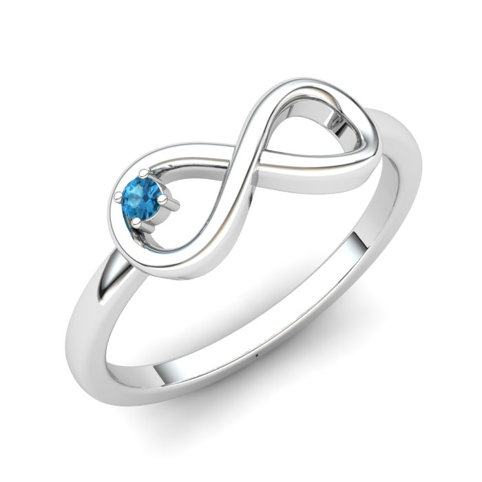 Blue Topaz Infinity Love Ring_image1