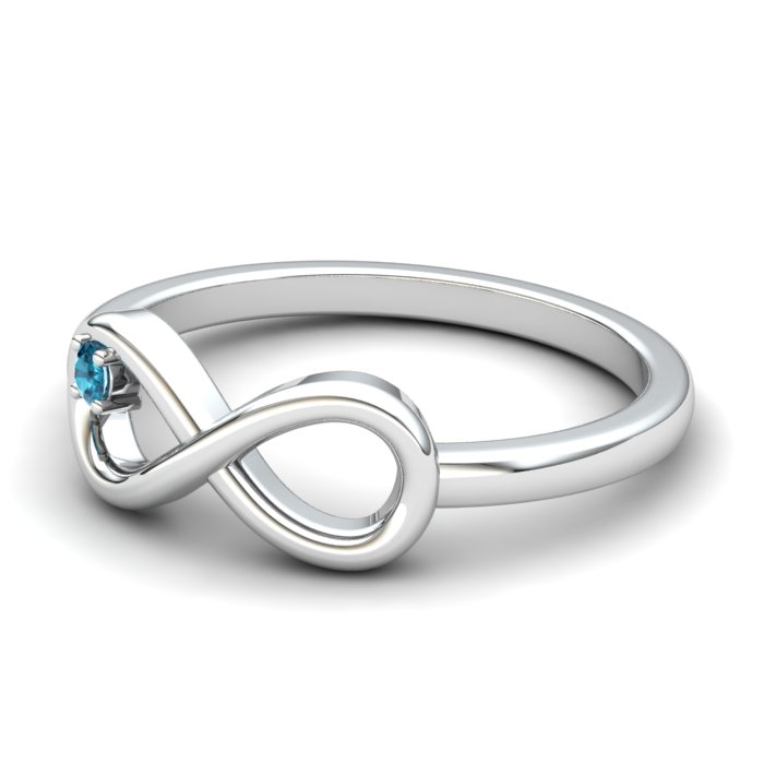 Blue Topaz Infinity Love Ring_image2