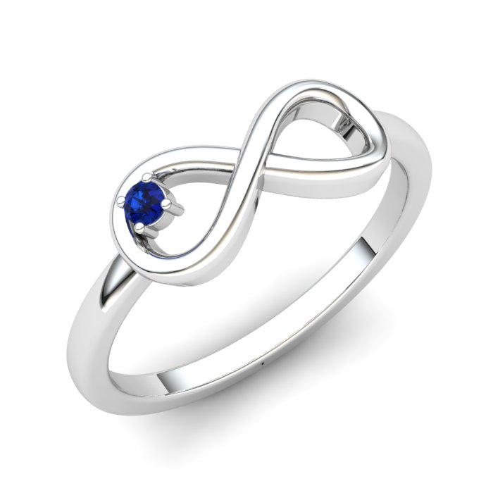 Blue Sapphire Infinity Love Ring_image1