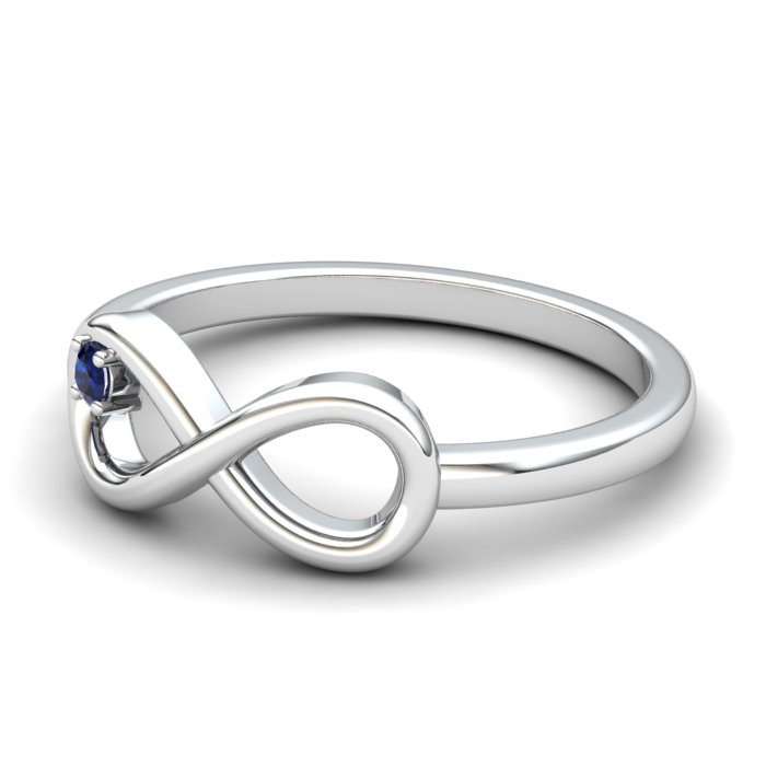 Blue Sapphire Infinity Love Ring_image2