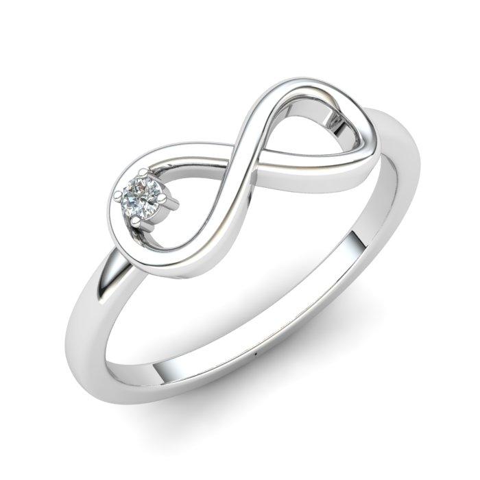 White Sapphire Infinity Love Ring_image1