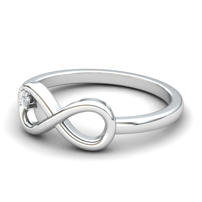 White Sapphire Infinity Love Ring_image2