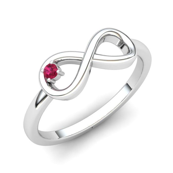 Pink Tourmoline Infinity Love Ring_image1