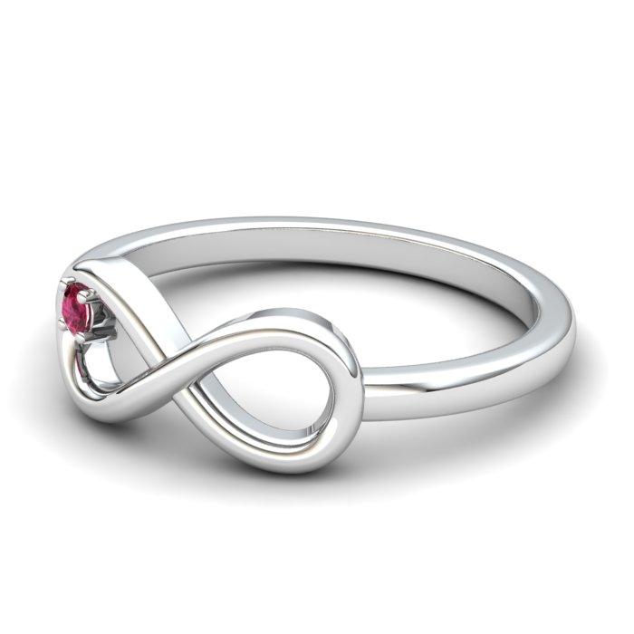 Pink Tourmoline Infinity Love Ring_image2