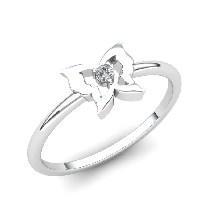 White Sapphire Gatekeeper Butterfly Ring_image1