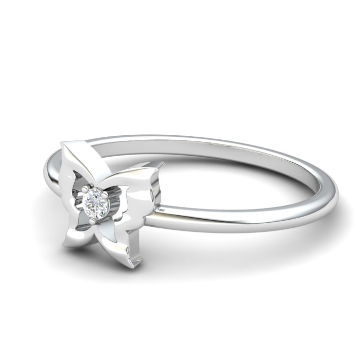 White Sapphire Gatekeeper Butterfly Ring_image2