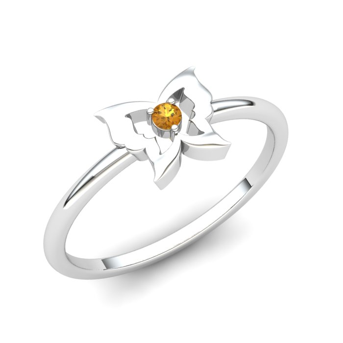 Gatekeeper Butterfly Citrine Ring_image1