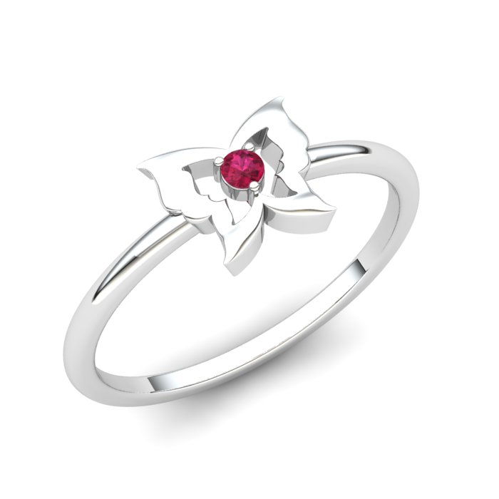 Pink Tourmaline Gatekeeper Butterfly Ring_image1