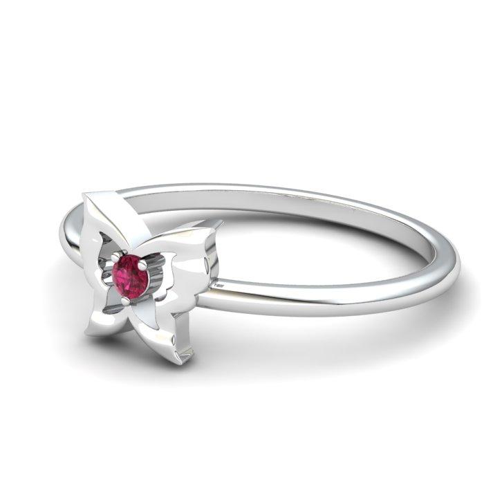 Pink Tourmaline Gatekeeper Butterfly Ring_image2