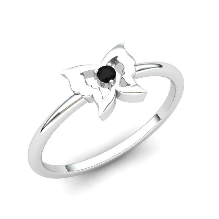 Onyx Gatekeeper Butterfly Ring