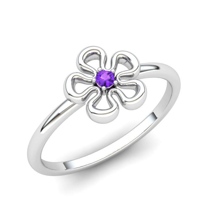 Amethyst Lantana Flower Ring_image1
