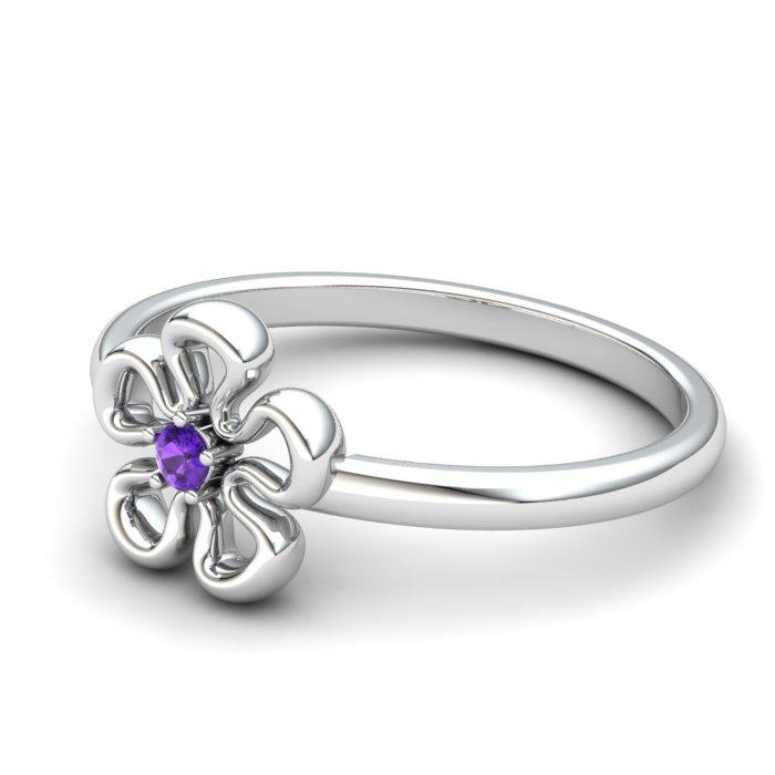 Amethyst Lantana Flower Ring_image2