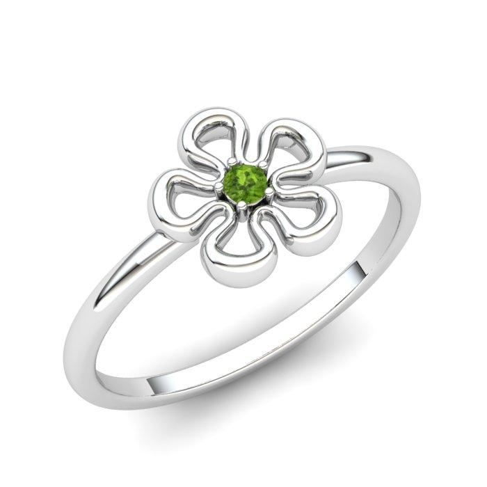 Peridot Lantana Flower Ring_image1