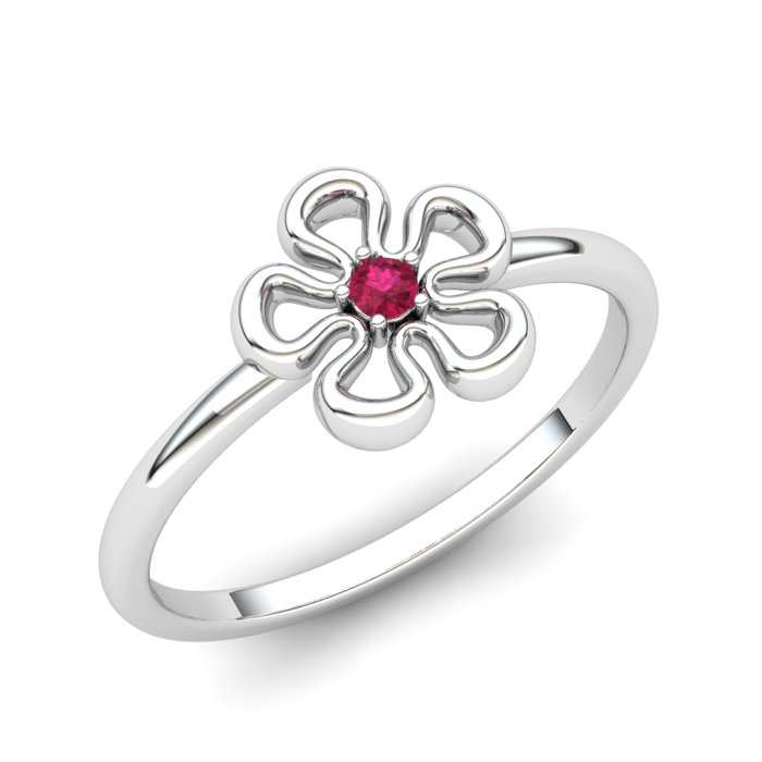 Ruby Lantana Flower Ring_image1