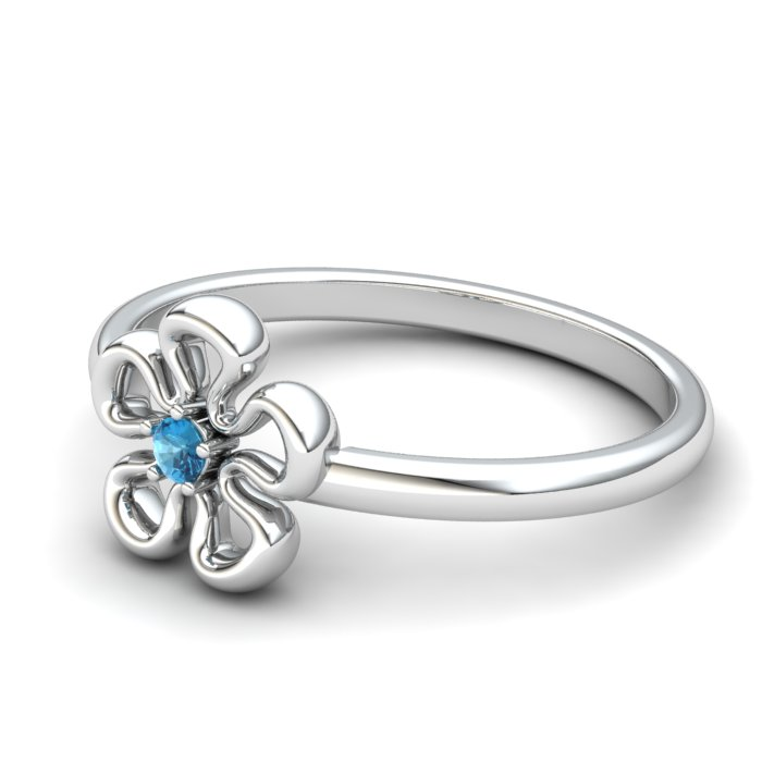 Blue Topaz Lantana Flower Ring_image2