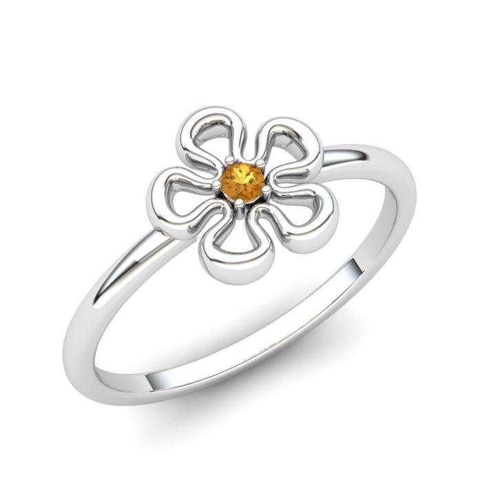 Lantana Flower Citrine Ring_image1