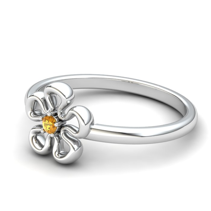 Lantana Flower Citrine Ring_image2