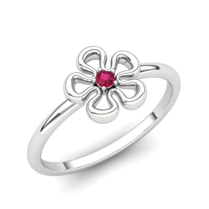 Pink Tourmaline Lantana Flower Ring_image1
