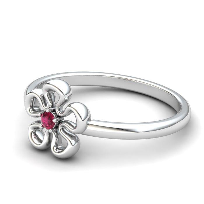 Pink Tourmaline Lantana Flower Ring_image2