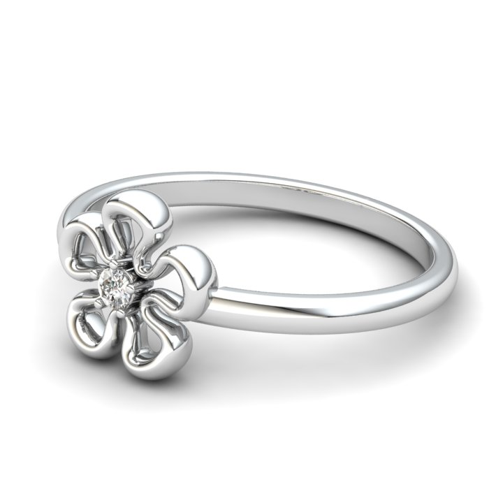 White Topaz Lantana Flower Ring_image2