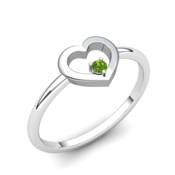 Peridot Lovably Heart Ring