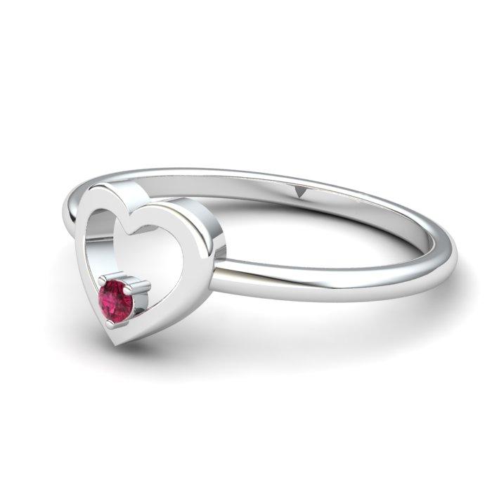 Ruby Lovably Heart Ring