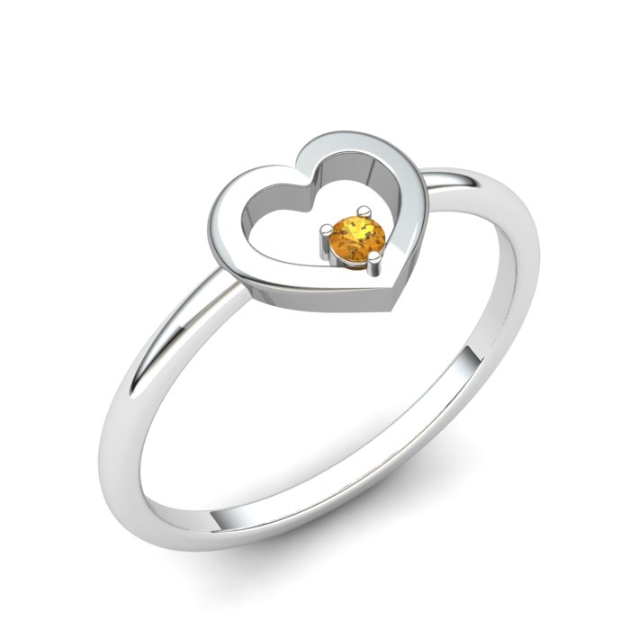 Lovably Heart Citrine Ring_image1
