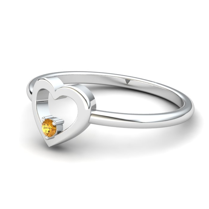 Lovably Heart Citrine Ring_image2