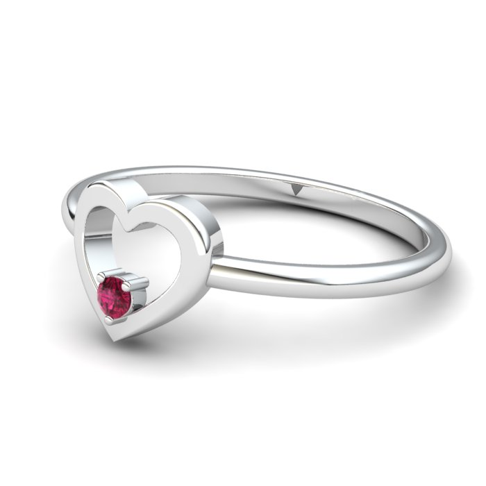 Pink Tourmaline Lovably Heart Ring_image2