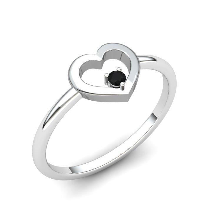 Onyx Lovably Heart Ring_image1