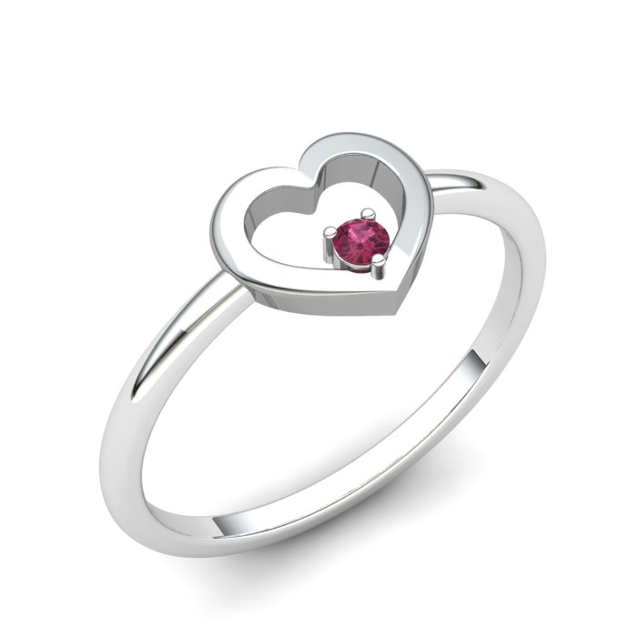 Garnet Lovably Heart Ring_image1