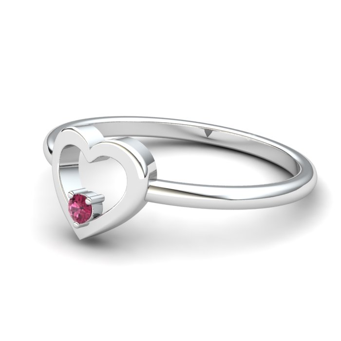 Garnet Lovably Heart Ring_image2