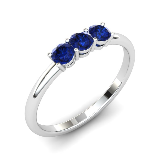 Blue Sapphire Three Wishes Ring_image1