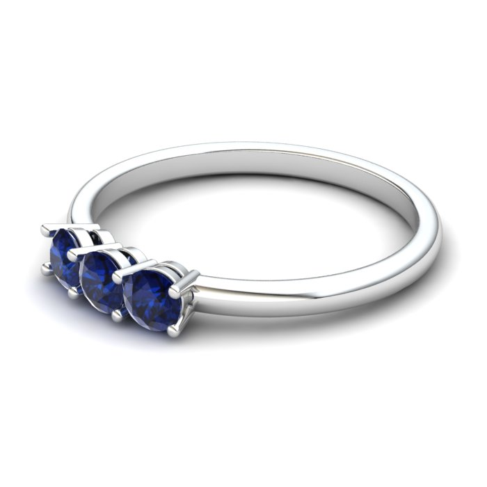 Blue Sapphire Three Wishes Ring_image2