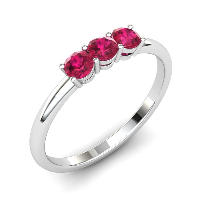 Ruby Three Wishes Ring_image1