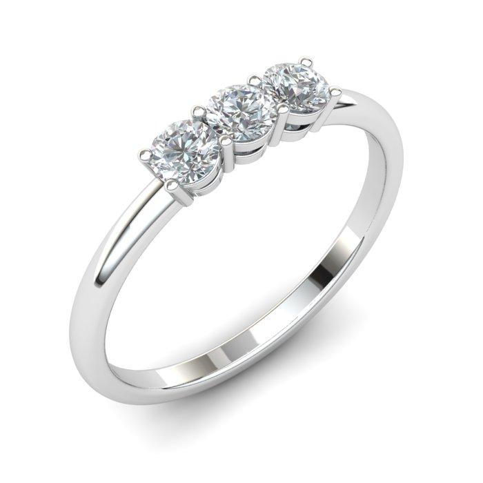 White Sapphire Three Wishes Ring_image1